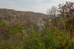Ridge Parkway blu, vasto fiume francese fotografie stock