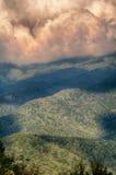 Ridge Parkway Scenic Mountains azul Fotos de archivo libres de regalías