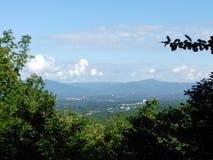 Ridge Parkway Virginia bleu Images stock