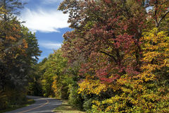 Ridge Parkway In Virginia blu Immagine Stock Libera da Diritti
