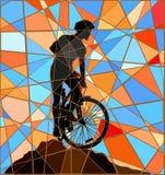 Ridge rider mosaic Stock Image