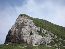 The ridge road between Cassis and La Ciotat in the Royalty Free Stock Photography