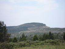 The ridge road between Cassis and La Ciotat in the south of France Stock Images