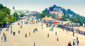The Ridge Road in Shimla Royalty Free Stock Images