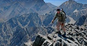 Ridge roccioso rampicante Fotografia Stock Libera da Diritti