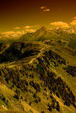 Ridge route in Alps Stock Images