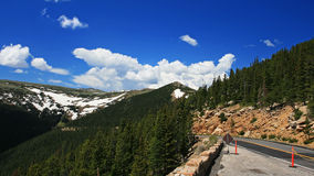 Ridge street to Rocky Mountain national park in Colorado Stock Images