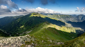 On ridge of summer mountains Royalty Free Stock Image
