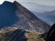Ridge sur le bâti Snowdon Photos libres de droits