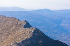 Ridge at the top of mountain Rtanj on a sunny day Stock Image