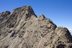 Ridge Traverse dal piccolo picco dell'orso in Colorado del sud fotografie stock libere da diritti