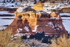 Ridge Wilderness Outcrop preto no inverno fotos de stock royalty free