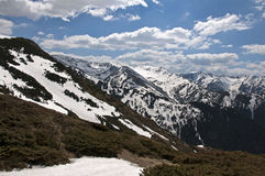 The ridge3. Trip in Fagaras Mountains, in may Stock Image