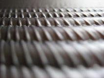 Ridged metal texture. Close up of abstract ridged metal texture Royalty Free Stock Image