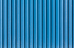 Ridged metal wall texture. Vertical ridged blue painted metal wall texture Royalty Free Stock Photography