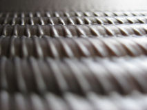 Ridged metalltextur Royaltyfri Bild