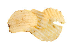Ridged Potato Chips, isolated Royalty Free Stock Photo