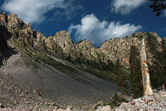 Ridgeline above Trampas Lakes Stock Photo