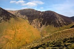 The ridgeline of Crag Hill and Sail. Crag Hill, Scar Crags and Sail from Knott Rigg Stock Photography