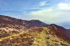 The ridgeline upto Ard Crags Royalty Free Stock Photography