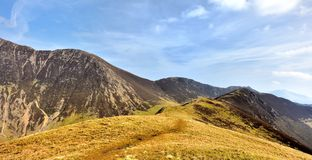 The ridgeline upto Ard Crags Royalty Free Stock Photos