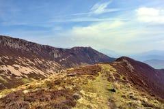 The ridgeline upto Ard Crags. Ard Crag ridge below Scar Crag Royalty Free Stock Photography