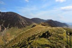 The ridgeline upto Ard Crags. Ard Crag ridge below Sail Stock Image