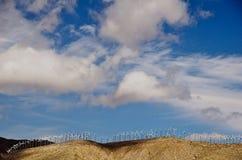 Ridgeline wind farm Royalty Free Stock Image