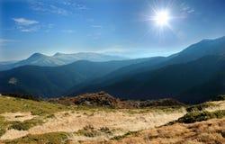 Ridges of the Carpathian mountains Royalty Free Stock Photos