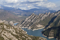 Ridges of Els Bastets. In the Catalan Pyrenees, Spain Stock Photos