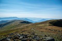 Ridges. Just walking on ridges of Slovakia mountain Baranec royalty free stock photo