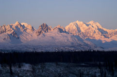Ridges Peaks Mount McKinley Denali National Park Alaska United States Royalty Free Stock Photography
