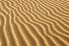 Ridges of sand formed in sand dune Royalty Free Stock Image