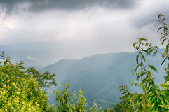 Ridges of theSmokey Mountains extending across the valley on the Stock Image