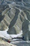 Ridges and Valleys. View overlooking distinct ridges and valleys of Death Valley National Monument in California Stock Photo