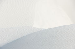 Ridges on white sand Stock Photography