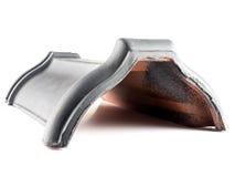 Ridgetile gris en céramique photographie stock libre de droits