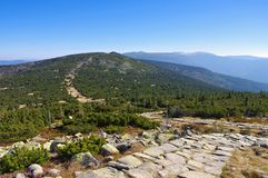 Ridgeway в гигантских горах Стоковое фото RF