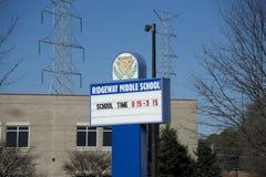 Ridgeway Middle School Marqee, Memphis, TN stock images