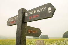 Ridgeway National Trail R-U photographie stock libre de droits