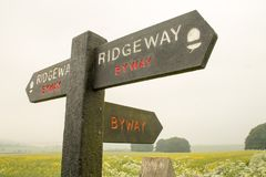 Ridgeway National Trail Regno Unito fotografia stock libera da diritti
