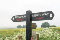 Ridgeway National Trail Reino Unido fotografía de archivo libre de regalías