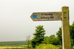 Ridgeway National Trail UK Royaltyfria Bilder