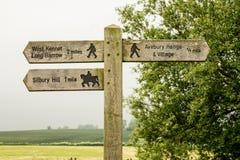 Ridgeway National Trail UK Arkivbild