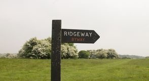 Ridgeway National Trail UK royaltyfria bilder