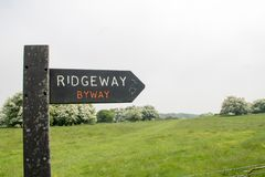 Ridgeway National Trail UK royaltyfri foto