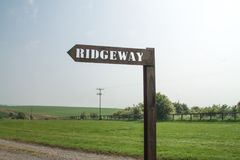 Ridgeway National Trail UK arkivfoton