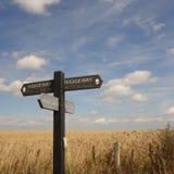 Ridgeway Path Sign Stock Photo