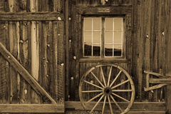 Ridgway Colorado, historic Centennial Ranch Barn built in 1994 by Vince Kotny Stock Photography