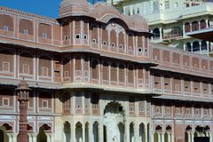 Ridhi Sidhi Pol at City Palace, Jaipur. Ridhi Sidhi Pol is a four-storied grand gateway that leads to the Pritam Niwas Chowk Royalty Free Stock Photos